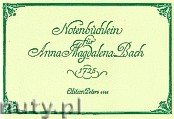 Ok�adka: Bach Johann Sebastian, Anna Magdalena's Notebook for Piano