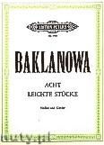 Okładka: Baklanowa Natalja, Eight Easy Pieces for Violine and Piano