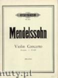 Okładka: Mendelssohn-Bartholdy Feliks, Concerto in D minor (Vln-Pf)