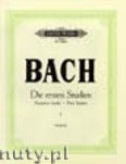 Ok�adka: Bach Johann Sebastian, First Studies for Piano, Vol. 1