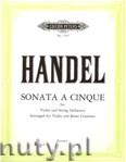 Ok�adka: H�ndel George Friedrich, Sonata a cinque