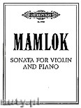 Okładka: Mamlok Ursula, Sonata for Violin and Piano