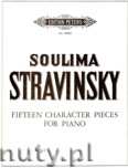 Ok�adka: Stravinsky Soulima, 15 Character Pieces for Piano