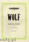 Ok�adka: Wolf Hugo, Songs to poetry by Eduard M�rike for Voice and Piano, Vol. 3
