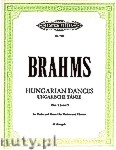 Ok�adka: Brahms Johannes, Hungarian Dances for Violin and Piano, Nos.1, 3 and  5