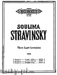 Okładka: Stravinsky Soulima, 3 Inventions in 3 - parts