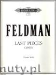 Okładka: Feldman Morton, Last Pieces (Pf)