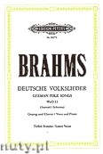 Ok�adka: Brahms Johannes, Deutsche Volkslieder WoO 33