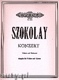 Ok�adka: Szokolay S�ndor, Violin Concerto (Piano Reduction) (Vln-Pf)