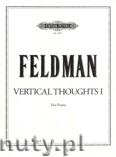 Ok�adka: Feldman Morton, Vertical Thoughts I for 2 Pianos