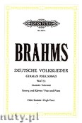 Okładka: Brahms Johannes, German Folk Songs for Solo Voice and Piano, WoO 33