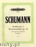 Okładka: Schumann Robert, Studien op. 3; Konzertetüden op. 10