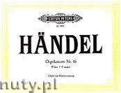 Okładka: Händel George Friedrich, Organ Concerto No. 16 in F (Org-Pf)