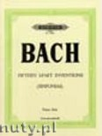 Ok�adka: Bach Johann Sebastian, Sinfonias (three-part) BWV 787-801 (Pf)