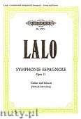 Okładka: Lalo Édouard Victor Antoine, Symphonie Espagnole Op.21 (Vln-Pf)