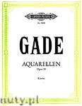 Ok�adka: Gade Niels Wilhelm, Aquarellen f�r Klavier, op. 19