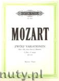 Ok�adka: Mozart Wolfgang Amadeusz, 12 Variations K265 on 'Ah! Vous dirai-je, Maman'  KV 265