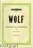 Okładka: Wolf Hugo, Italienisches Liederbuch, Band 3