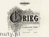 Okładka: Grieg Edward, 2 Symphonische Stücke Op. 14 für Klavier zu 4 Händen