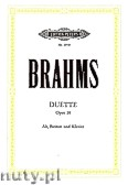 Okładka: Brahms Johannes, Duets, Op. 28