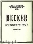 Ok�adka: Becker John, Soundpiece No. 3