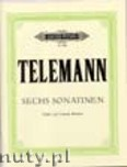 Okładka: Telemann Georg Philipp, 6 Sonatinas for Violin and Harpsichord (Piano), Violoncello ad lib.