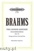 Ok�adka: Brahms Johannes, 4 Ernste Ges�nge op. 121