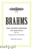 Okładka: Brahms Johannes, 4 Ernste Gesänge op. 121