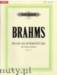 Okładka: Brahms Johannes, Sechs Klavierstücke op. 118