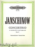 Ok�adka: Janschinow Alexej, Concertino in Russian Style Op.35 (Vln-Pf)