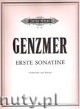 Okładka: Genzmer Harald, Sonatina for Cello and Piano