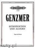Ok�adka: Genzmer Harald, Introduction and Allegro