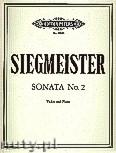 Okładka: Siegmeister Elie, Sonata No. 2