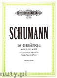 Ok�adka: Schumann Robert, 16 Songs for Female Voices with Piano, Op. 29/2, 69, 91, 114