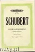 Okładka: Schubert Franz, Schwanengesang for Voice and Piano, D 957