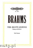 Ok�adka: Brahms Johannes, Four Serious Songs, Op. 121
