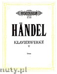 Okładka: Händel George Friedrich, Klavierwerke, Heft 5