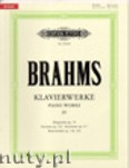 Ok�adka: Brahms Johannes, Piano Works Vol. 4: Collected Shorter Pieces (Urtext)