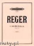 Okładka: Reger Max, 6 Morceaux pour le piano Op.24