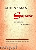 Ok�adka: Sheinkman Mordechai, Sonata per Violino e Pianoforte