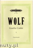 Okładka: Wolf Hugo, Goethe-Lieder: 51 Songs Vol.1 (High-medium voice-Pf)