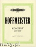 Okładka: Hoffmeister Franz Anton, Concerto in D for Viola and Piano