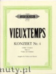 Ok�adka: Vieuxtemps Henry, Concerto No. 4 in D minor for Violin and Orchestra, Op. 31