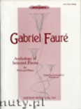 Okładka: Fauré Gabriel, Anthology of Selected Pieces (Fl-Pf)