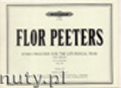 Okładka: Peeters Flor, Hymn Preludes for the Liturgical Year, Op. 100 Vol. 4 for Organ
