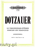 Okładka: Dotzauer Justus Johann Friedrich, 113 Exercises for Violoncello, Vol. 4