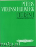 Okładka: Różni, Peters - Violin School: Studies, Vol. 1