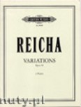 Okładka: Reicha Anton, Variations for 2 Flutes, Op. 20
