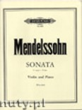 Ok�adka: Mendelssohn-Bartholdy Feliks, Sonata in F for Violin and Piano