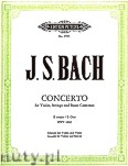 Ok�adka: Bach Johann Sebastian, Violin Concerto No.2 in E BWV 1042 (Vln-Pf)